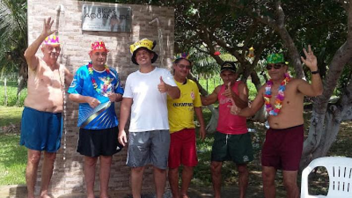 Canindé Correia e amigos, perto das Bicas Aquanindé