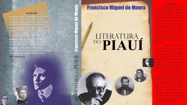 Capa de Literatura do Piauí (de Ovídio Saraiva aos nossos dias), de Francisco Miguel de Moura