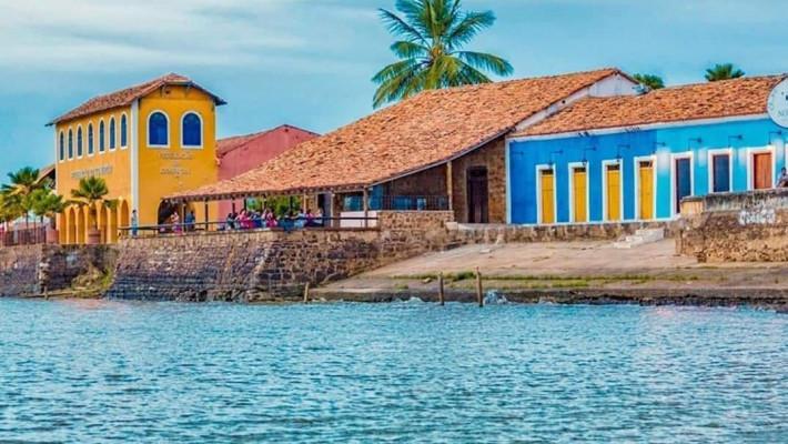 Porto das Barcas e o Rio Igaraçu, na Parnaíba, litoral do Piauí