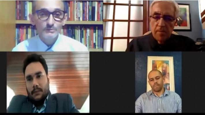 No primeiro plano, Dilson Lages e José Castello; em segundo plano, Diego Mendes Sousa e Jairo Mendes Leocádio